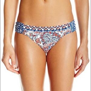 Hailey paisley side sash hipster bikini bottom